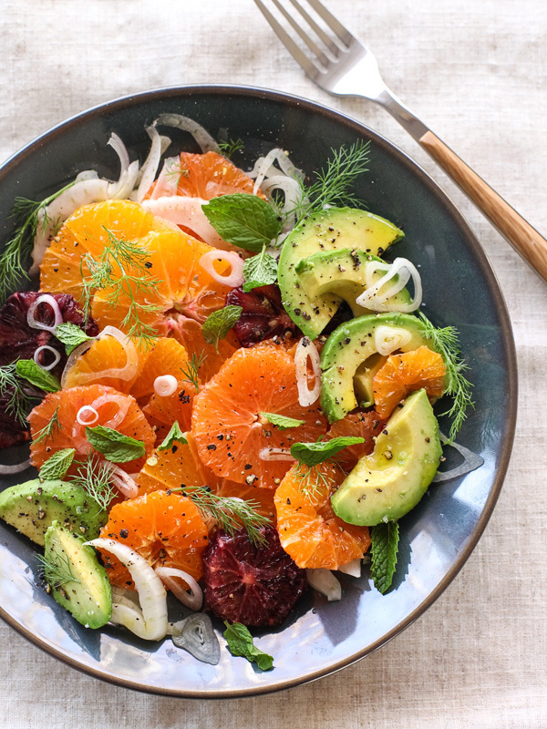 """<strong>Get the <a href=""""http://www.foodiecrush.com/2014/03/citrus-fennel-and-avocado-salad/"""" target=""""_blank"""">Citrus Fennel a"""