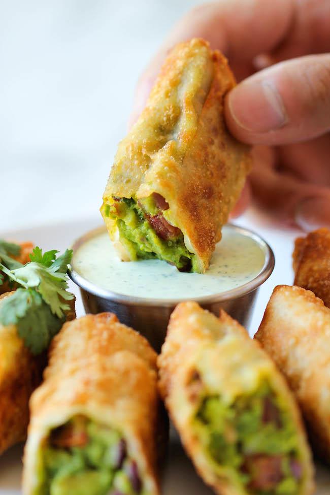 """<strong>Get the <a href=""""http://damndelicious.net/2014/04/21/cheesecake-factory-avocado-egg-rolls/"""" target=""""_blank"""">Avocado E"""