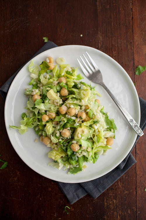 "<strong>Get the <a href=""http://naturallyella.com/2014/01/26/avocado-chickpea-salad/"" target=""_blank"">Avocado Chickpea Salad"