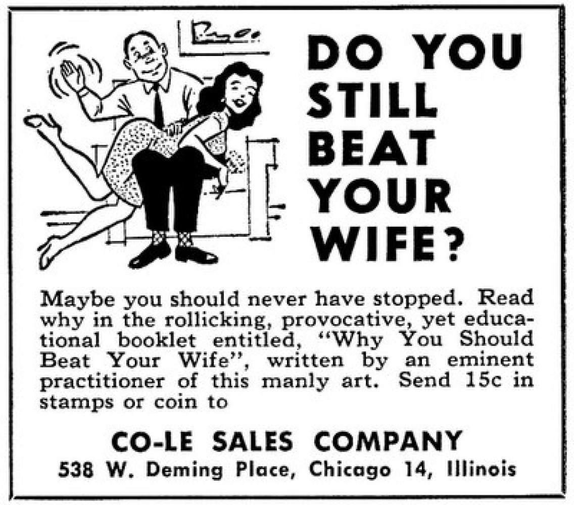 """Via <a href=""""http://www.mypointless.com/2009/11/more-sexist-ads-you-just-wont-see-these.html"""" target=""""_hplink"""">My Pointless</"""