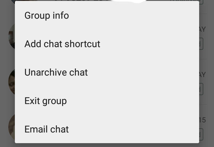 This feature lets you hide a conversation from your chat tab, and access it later, if needed. To do so, long press on a chat