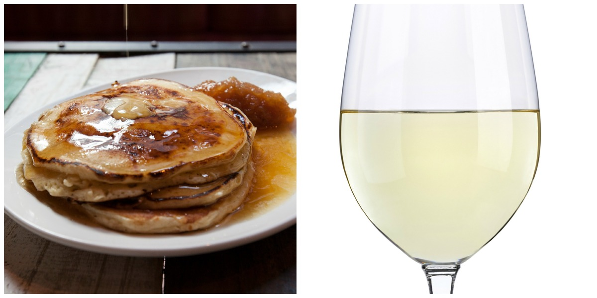 One bite of Corkbuzz's lemon ricotta pancakes followed by a sip of German Riesling and you'll be sold. The sweetness of the w