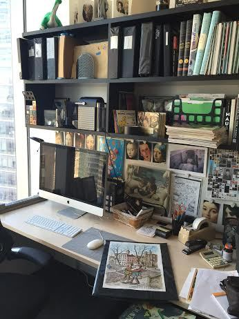 The New Yorker's art editor Francoise Mouly has a calendar hanging beside her desk that she uses to map out cover ideas.  She
