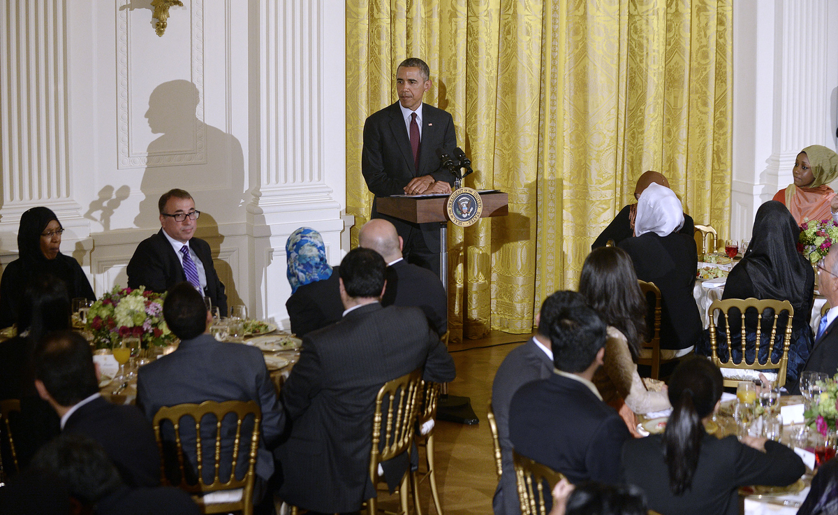 WASHINGTON, DC - JUNE 22:  U.S. President Barack Obama speaks at the annual Iftar dinner celebrating the Muslim holy month of