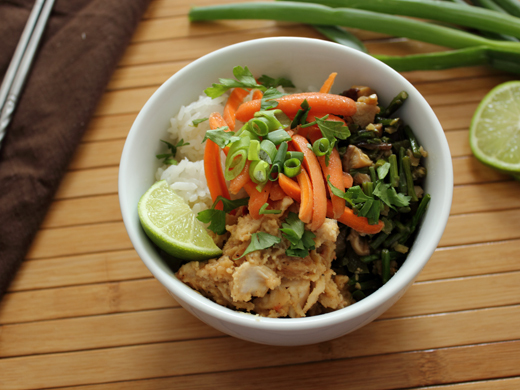"""<strong>Get the <a href=""""http://hskillet.blogspot.com/2013/07/a-rice-bowl-with-spicy-tahini-chicken.html"""" target=""""_blank"""">Spi"""