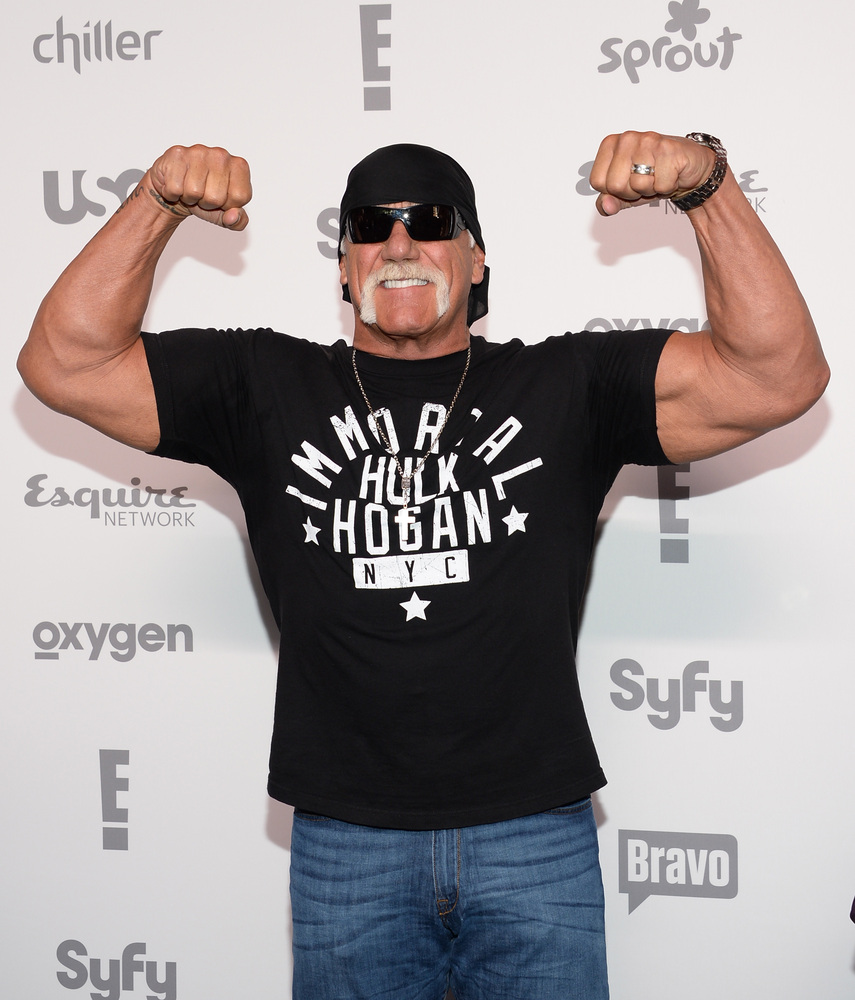Hulk Hogan attends the NBCUniversal Cable Entertainment 2015 Upfront at The Javits Center on Thursday, May 14, 2015, in New Y