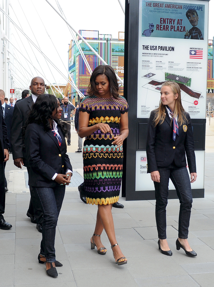 """<strong>Michelle Obama in Missoni:</strong> First of all, we have to say that <a href=""""http://www.huffingtonpost.com/2015/06/"""