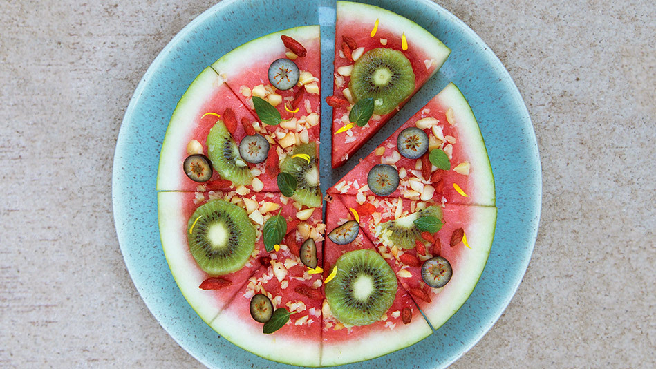 If you've ever looked at a wedge of watermelon and thought it looked like a pizza slice, chef Julie Morris is right there wit