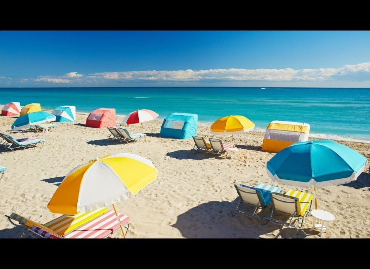 South Beach, bringing the heat. Well, actually, close to South Beach but away from the fray, and whimsically dressed up in mi