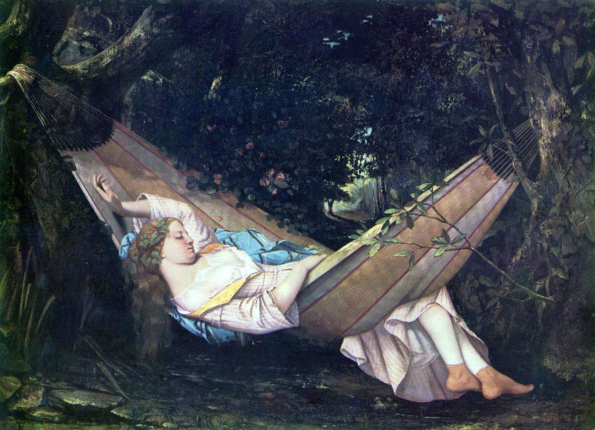 "Gustave Courbet, ""The Hammock,"" 1844"