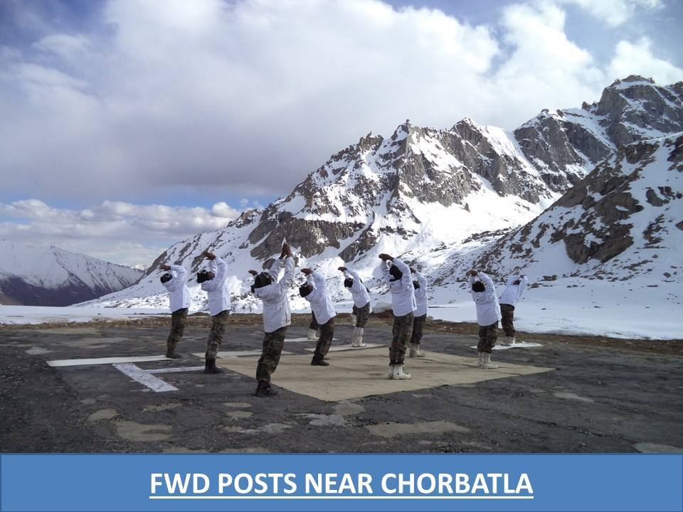 The Northern Command of the Indian Army would be observing the International day of Yoga tomorrow in the most challenging wea