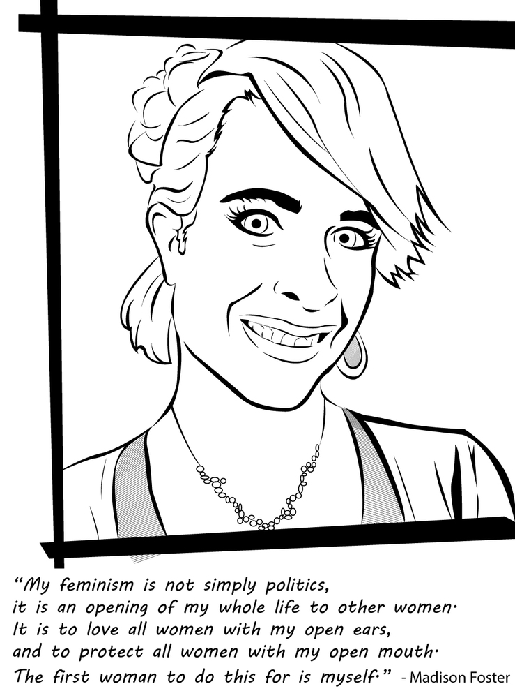 a badass feminist coloring book for the powerful ladies in your life