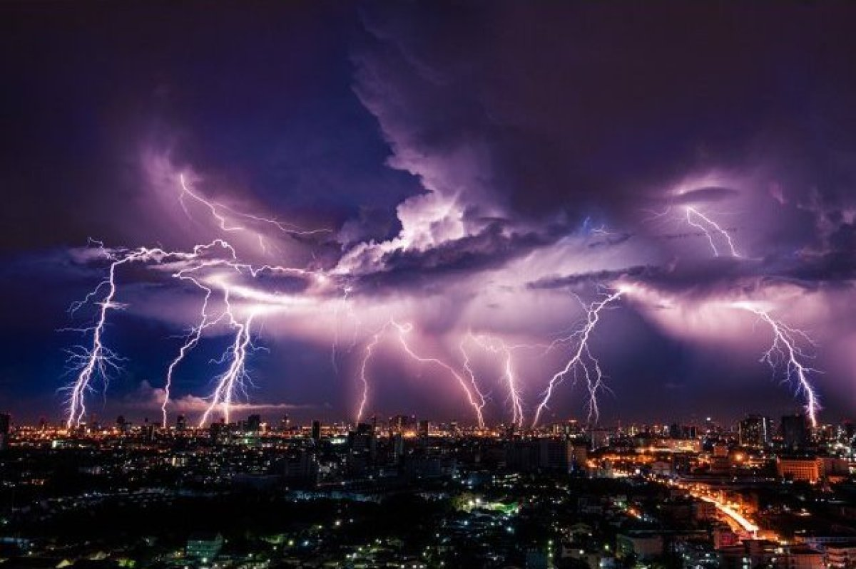 Who actually gets struck by lightning, right? Actually an average of 49 people die each year in the U.S. after being struck,