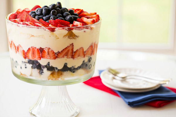 "<strong>Get the <a href=""http://www.browneyedbaker.com/red-white-blue-berry-trifle/"" target=""_blank"">Red, White & Blue Berry"
