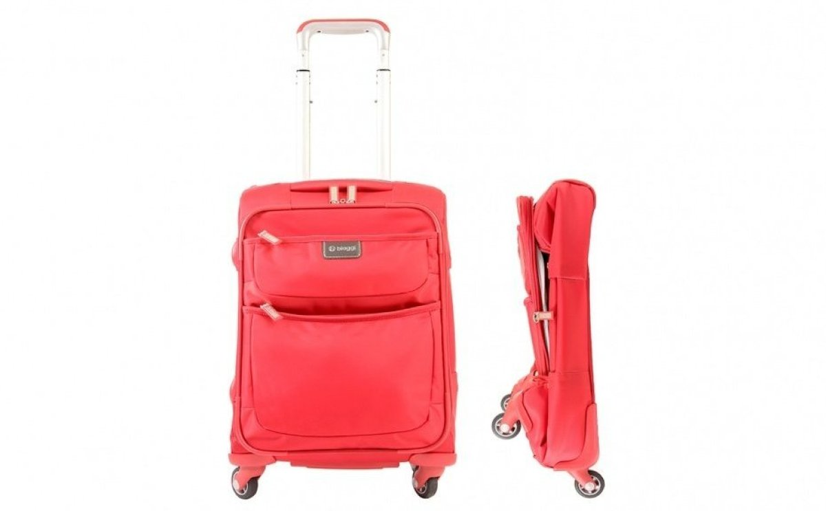 <strong>Five Bags that Fit the New Carry On Suggestions</a></strong><br><br>Biaggi Contempo 18-inch Foldable Spinner Cabin Ba
