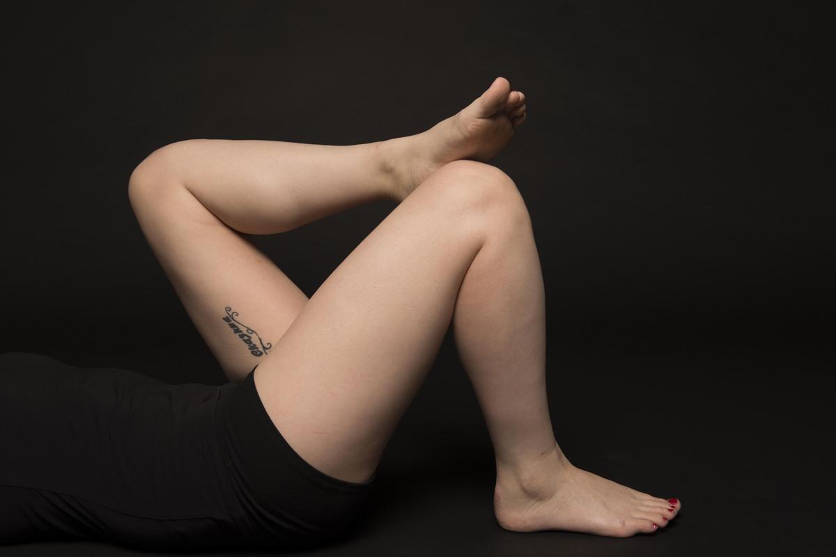 Women spreading their thighs