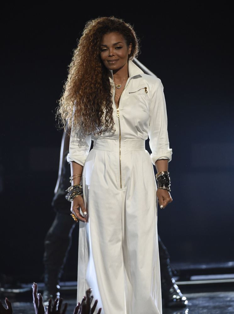 Janet Jackson accepts the ultimate icon: music dance visual award at the BET Awards at the Microsoft Theater on Sunday, June