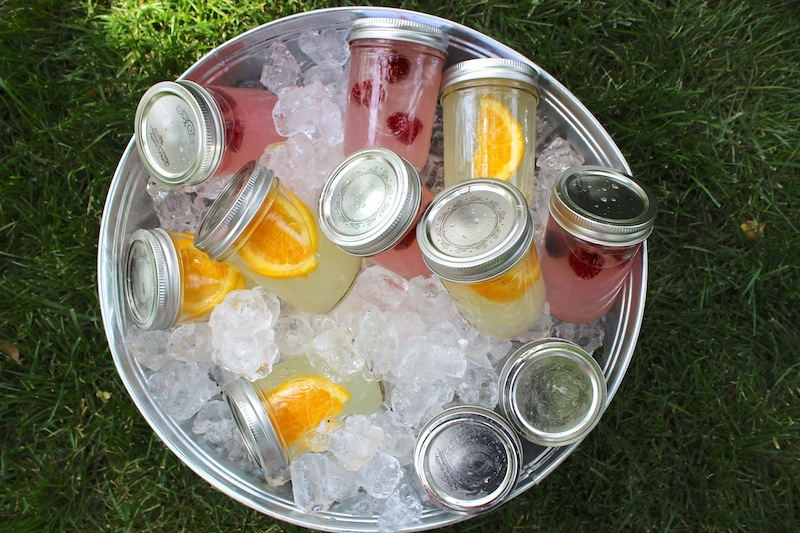"Make cocktails before the party starts and store them in <a href=""http://thechicsite.com/2013/05/17/ready-made-cocktails/"" ta"