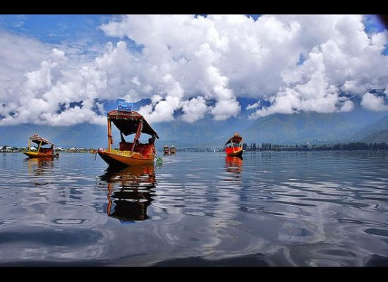 """Aptly known as """"paradise on earth,"""" Kashmir is home to mesmerizing historical and natural wonders. Dhal Lake combines hosts b"""