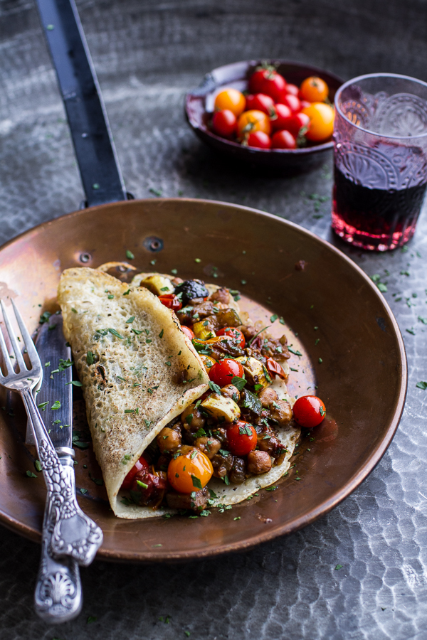 """<strong>Get the <a href=""""http://www.halfbakedharvest.com/rava-dosas-indian-crepes-summer-squash-tomato-chickpea-masala/"""" targ"""
