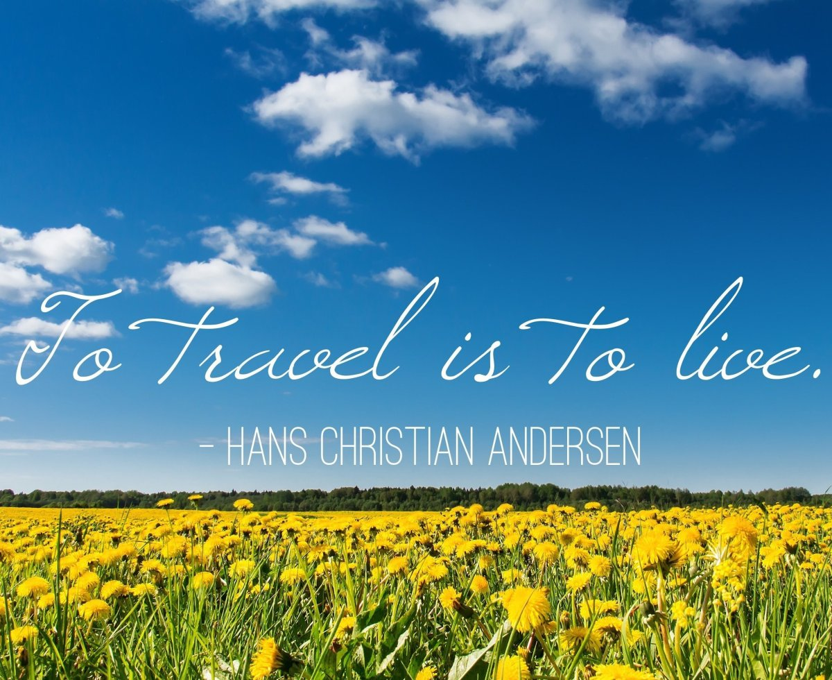 """Favorite travel quote from Trippy member Claus Anderson:  """"To travel is to live.""""  <a href=""""http://www.trippy.com/questio"""
