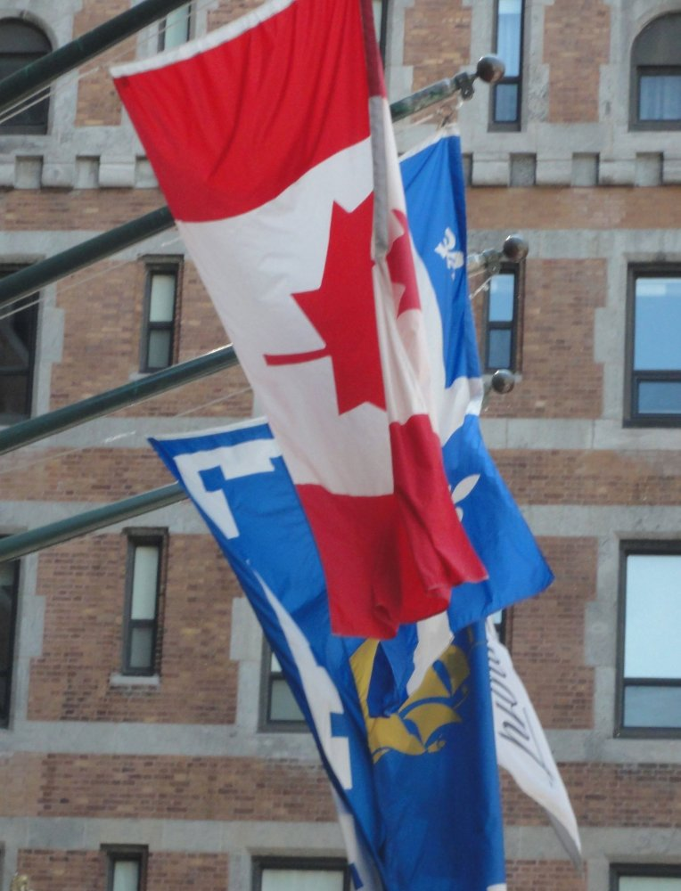 Canadian and Quebec Provence Flags  Photo: Grannies on Safari