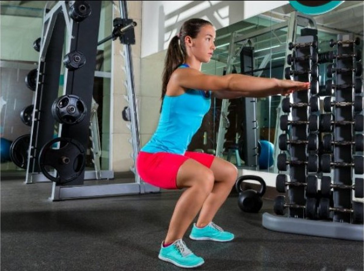 This move targets the major muscles of the lower body and the core and also helps enhance balance. Start standing tall with