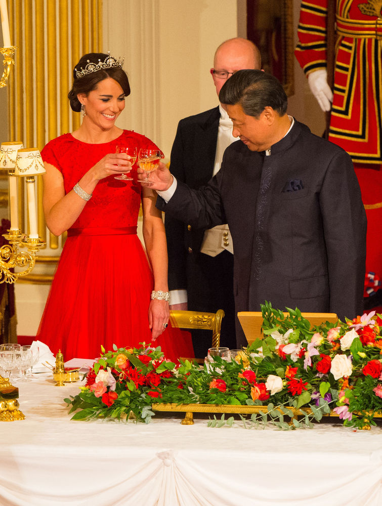 Chinese President Xi Jinping with the Duchess of Cambridge