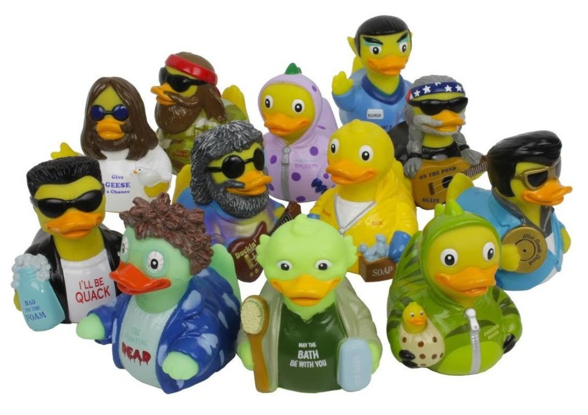 These rubber ducks will quack you up!