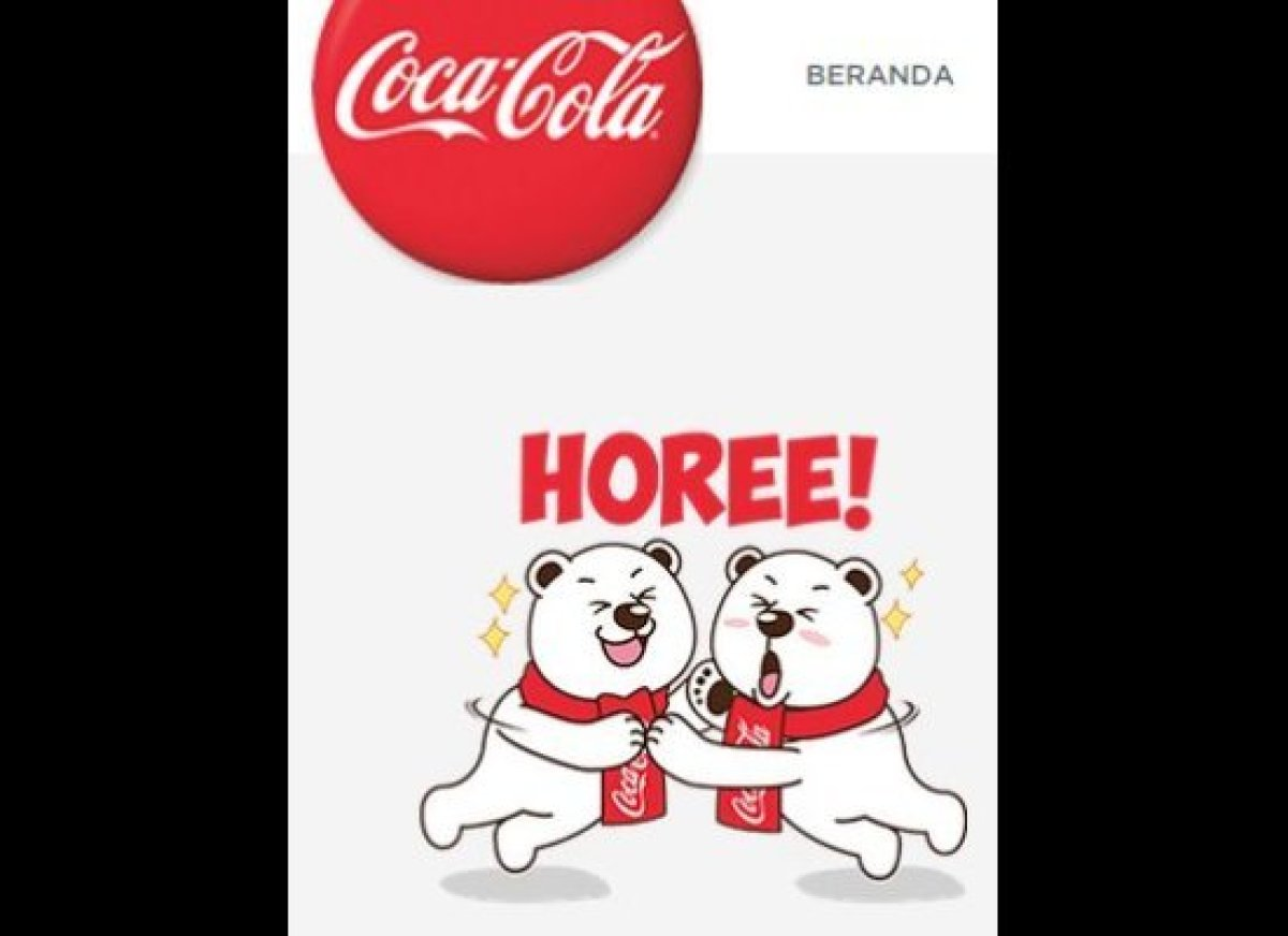 Child-friendly image from Coca-Cola's Indonesian website feature the company's iconic polar bear mascots.
