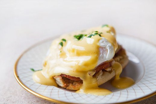 """<strong>Get the <a href=""""http://www.simplyrecipes.com/recipes/eggs_benedict/"""" target=""""_blank"""">Eggs Benedict recipe from Simpl"""