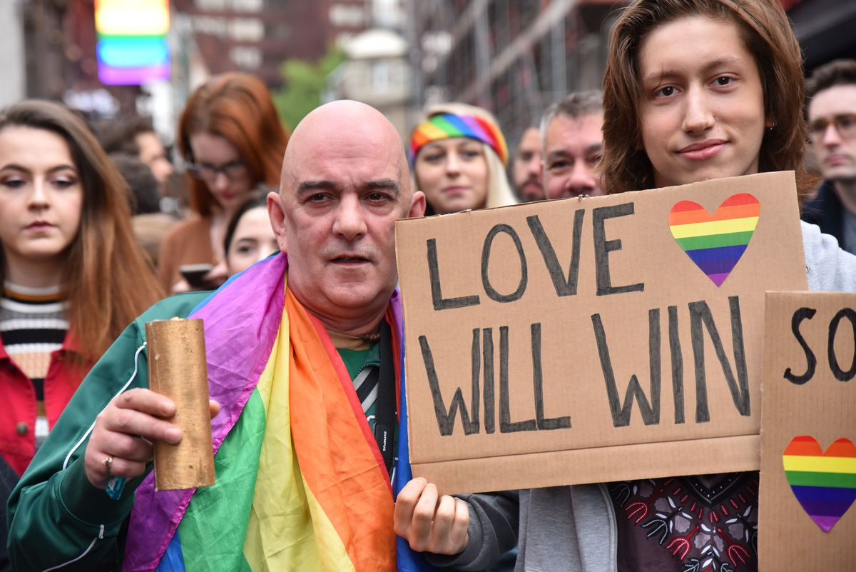 A vigil for Orlando is held in Soho, London.