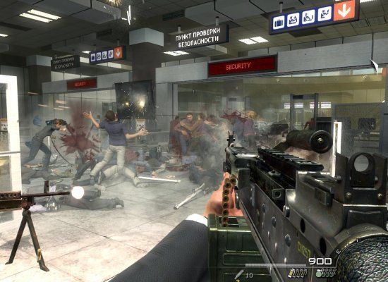 "Call of Duty: Modern Warfare 2 included an optional mission called ""No Russian"" in which players joined Russian terrorists in"
