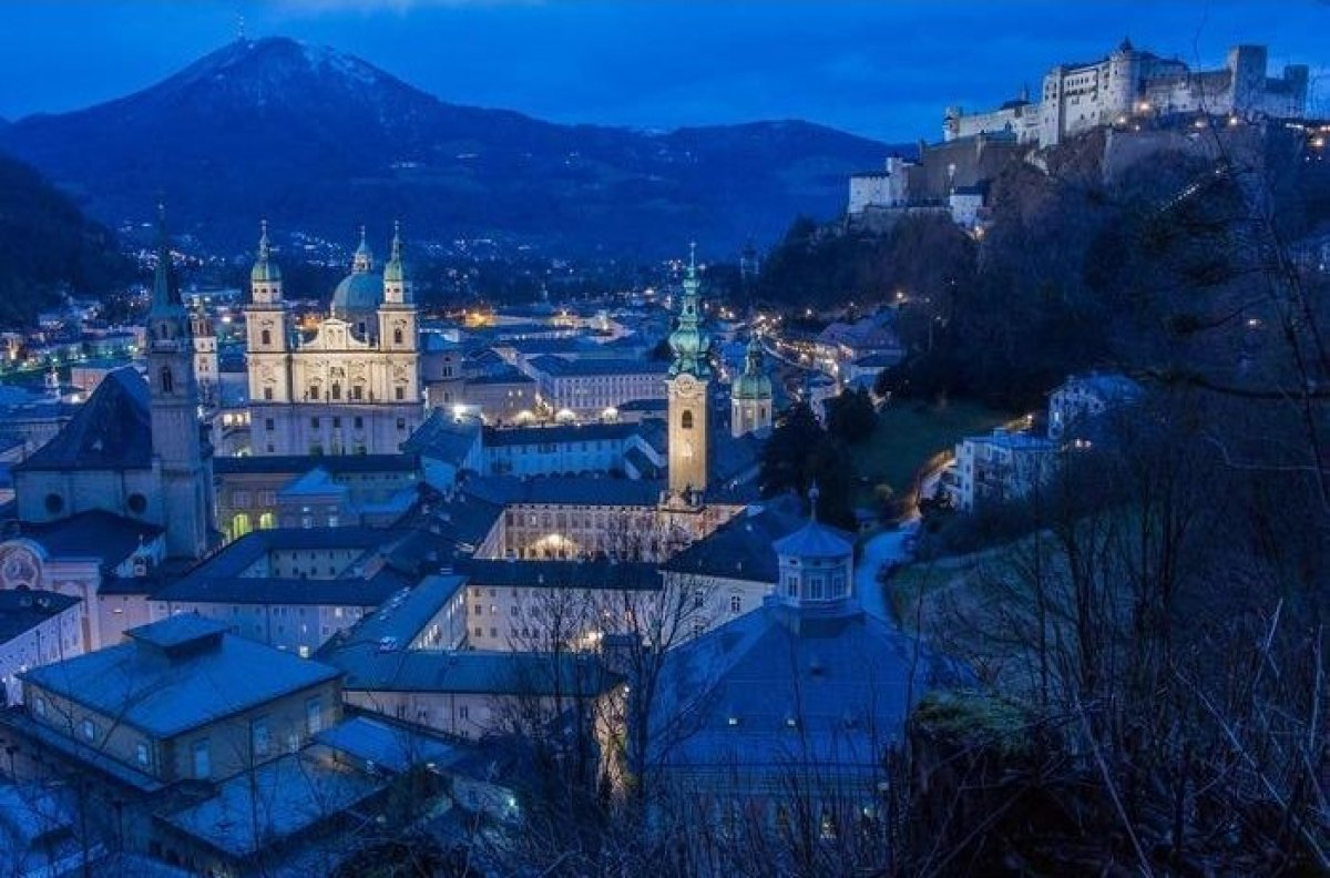 Enjoy a romantic getaway with your significant other in Salzburg. From November through April you will be in awe of the city