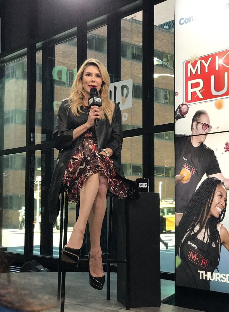 """Brandi dishes on her new reality competition show, """"My Kitchen Rules"""" at BUILD Series NYC. Photo taken at the brand new, stat"""