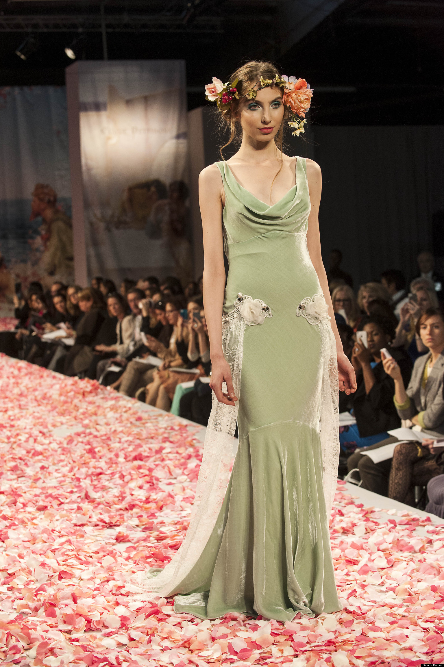 Colored wedding dresses in fall 2013 collections photos huffpost ombrellifo Gallery