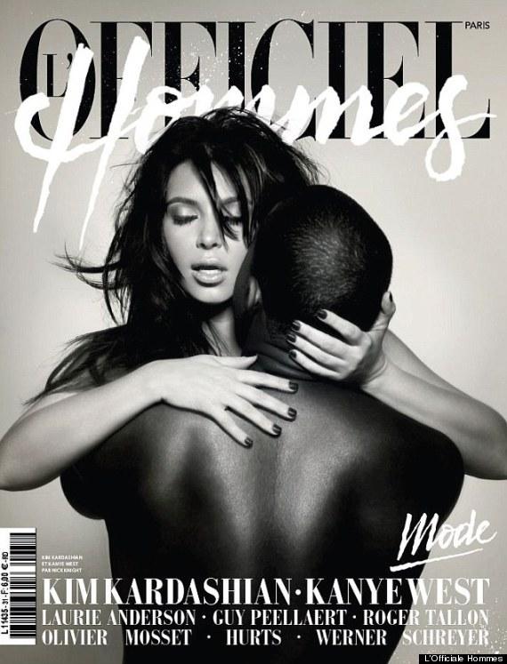kim kardashian kanye west naked magazine cover