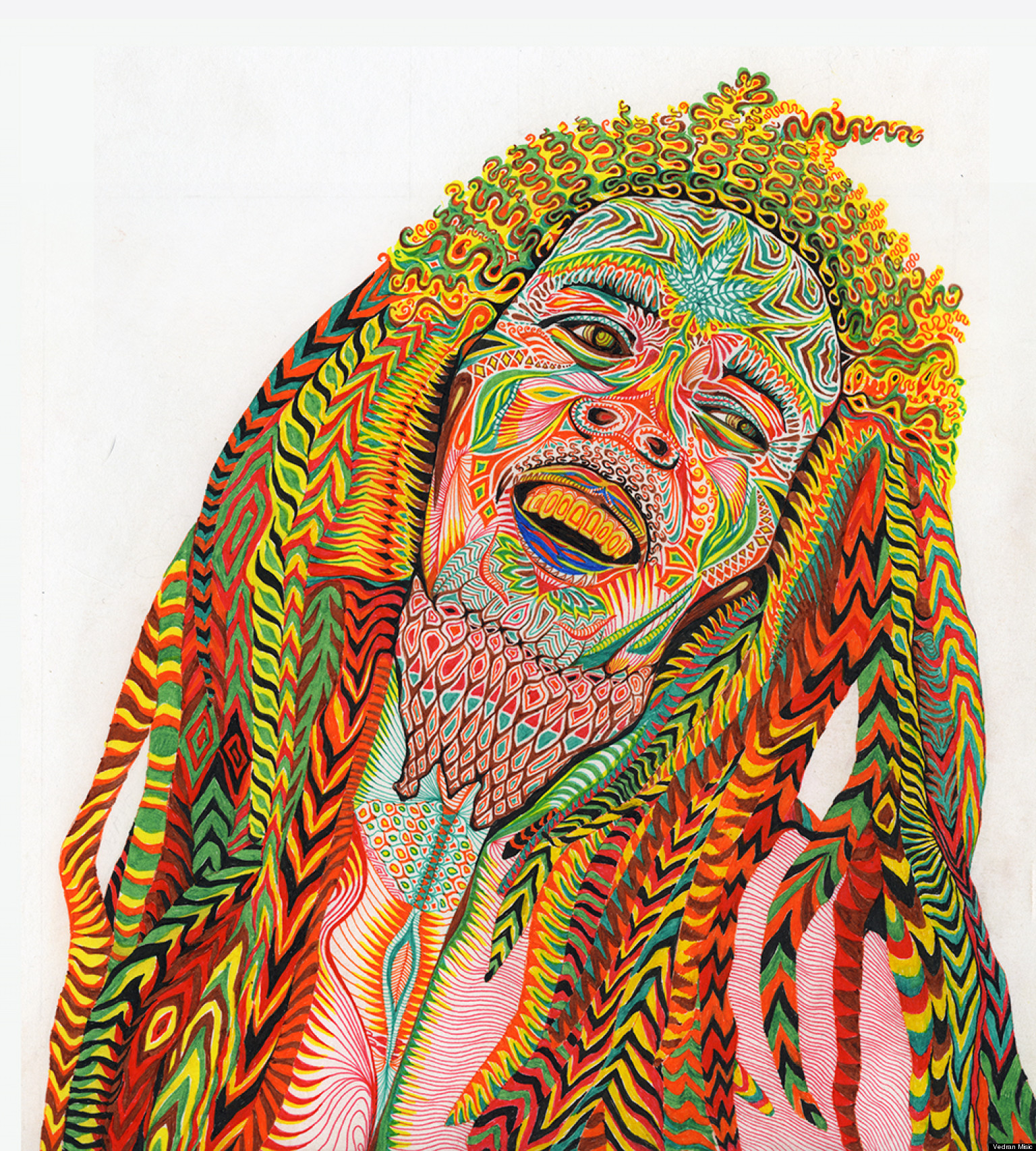 Psychedelic Art: Vedran Misic Creates Colorful Depictions