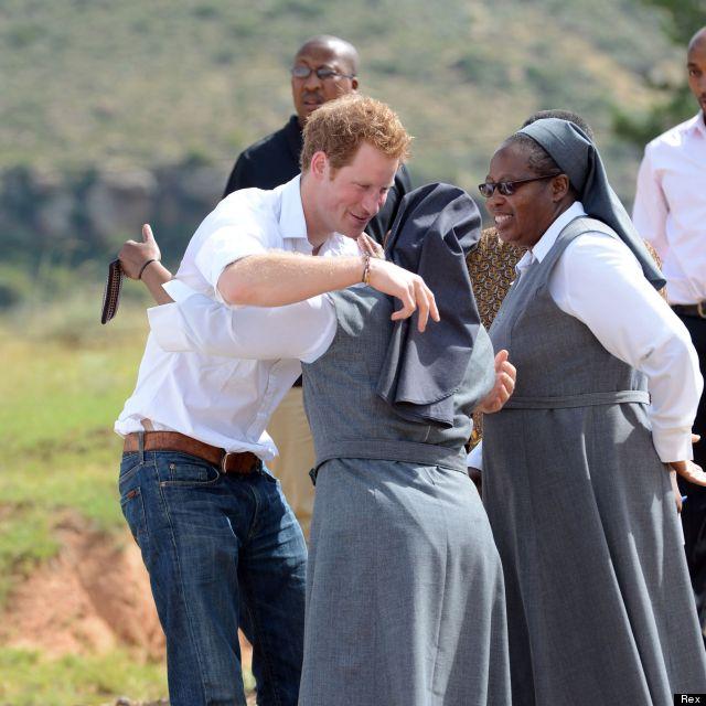 harry hugs nuns