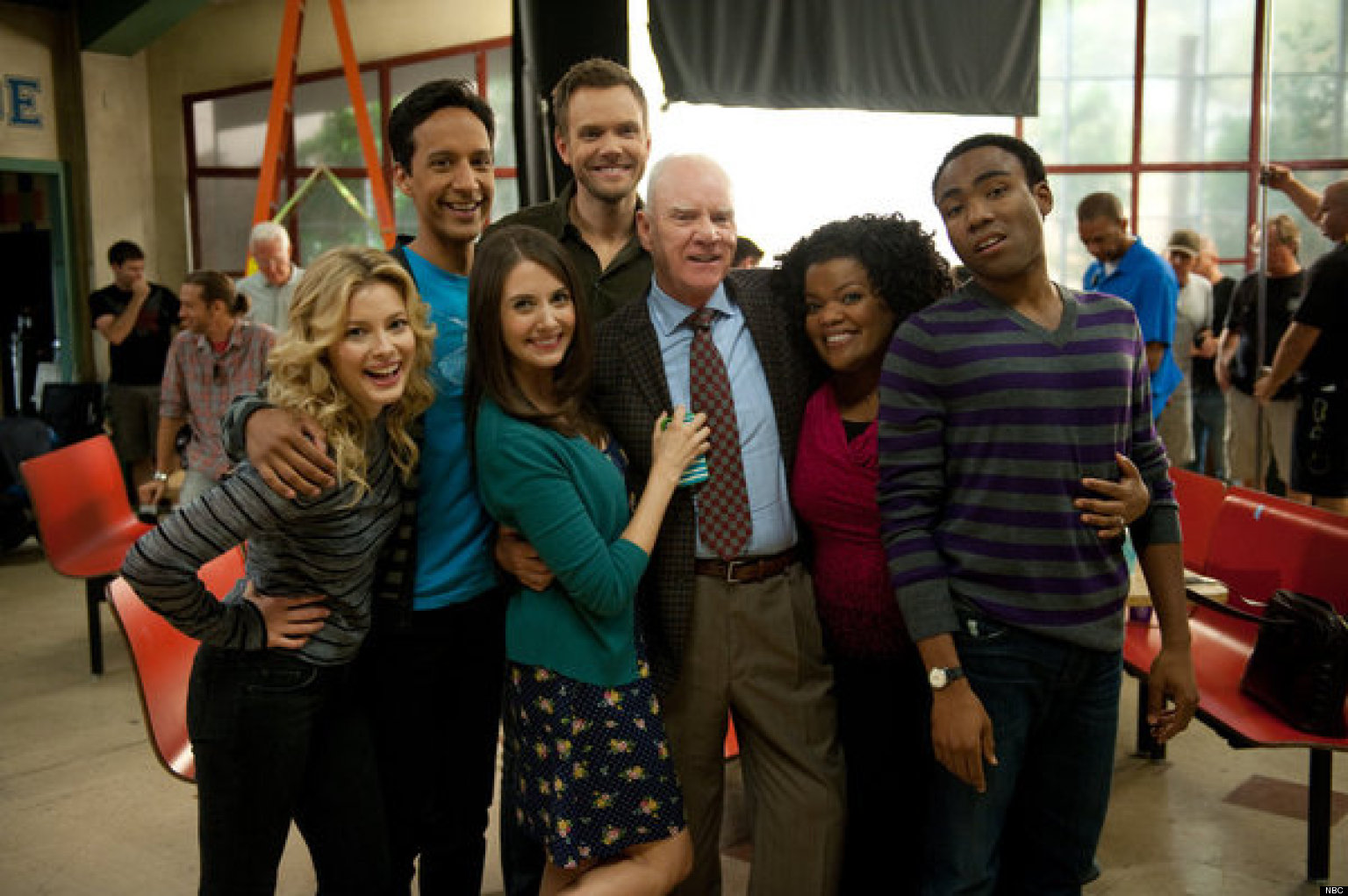 community malcolm mcdowell arrives to teach the greendale gang exclusive video huffpost