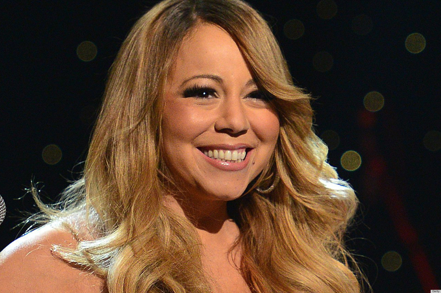 Mariah Carey Slip Star Wears Dangerously Low Cut Dress Photos