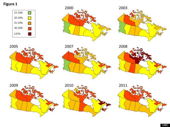 canada obesity map 1
