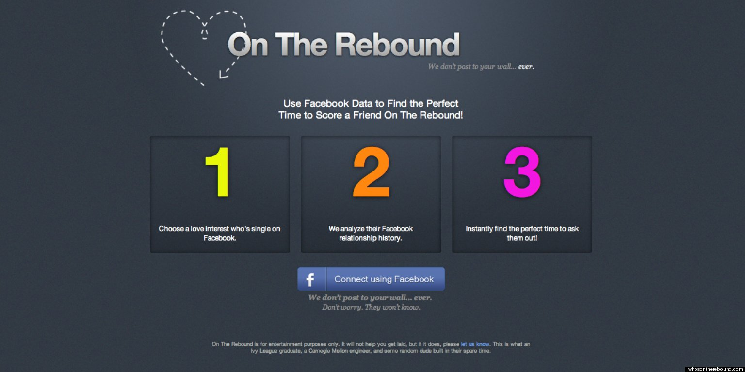 On The Rebound App Analyzes Facebook Relationship History For