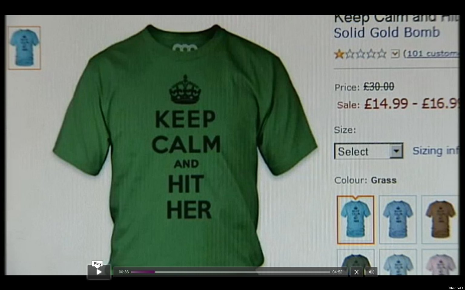 Amazon removes keep calm and rape t shirts seller solid gold amazon removes keep calm and rape t shirts seller solid gold bomb apologizes video huffpost gumiabroncs Gallery