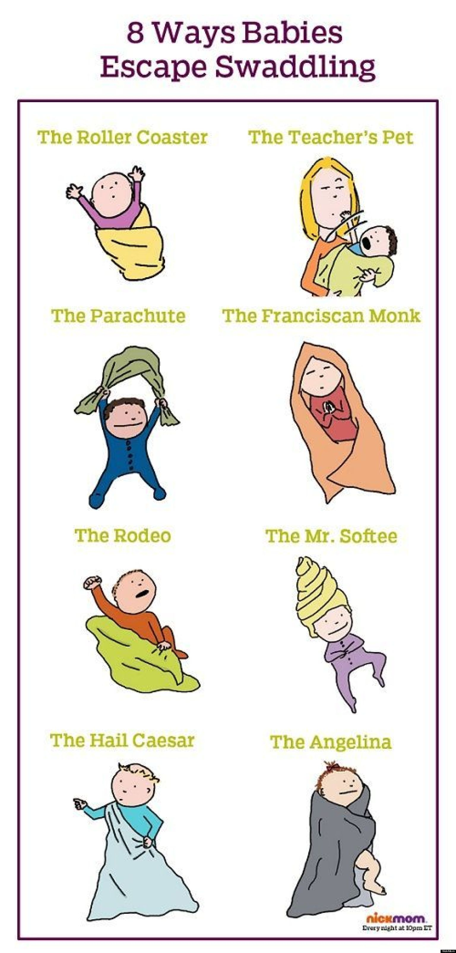 The Many Ways Babies Magically Escape From Swaddling Blankets – Funny Christian Birthday Cards
