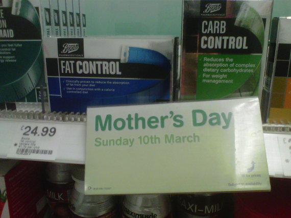 boots mothers day fat control