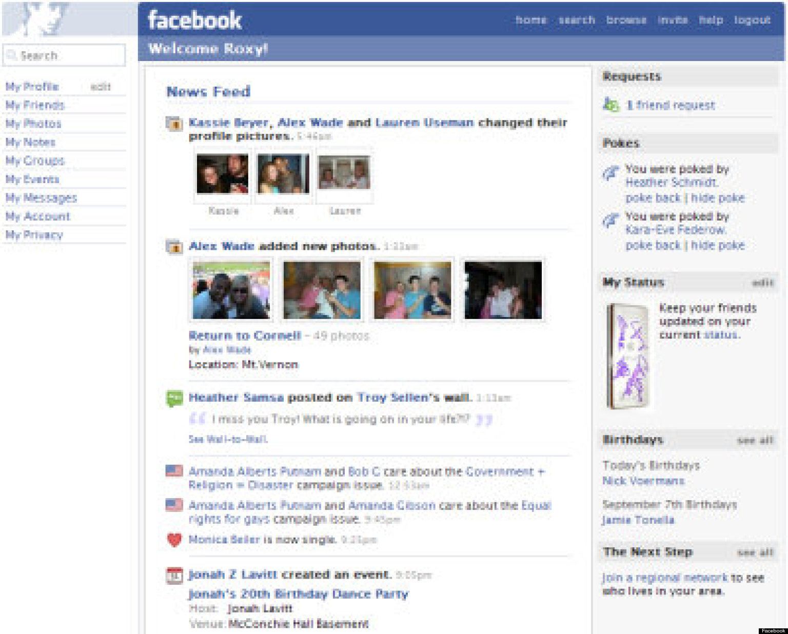 Facebook news feed timeline a look at changes through the years huffpost
