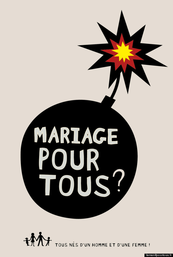 affiches antimariage gay