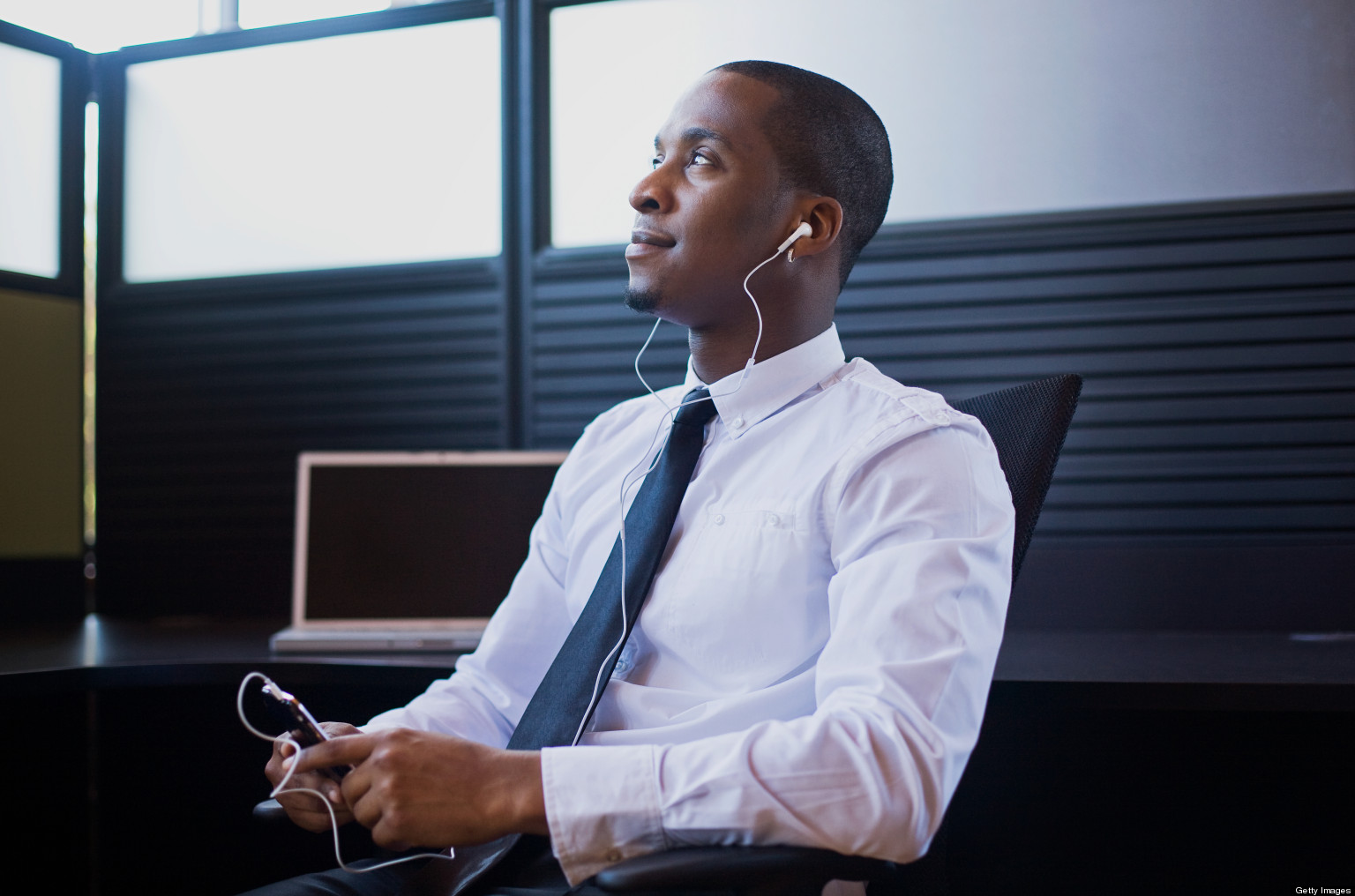 Image result for black man listening to music