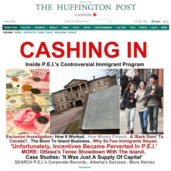 cashing in pei